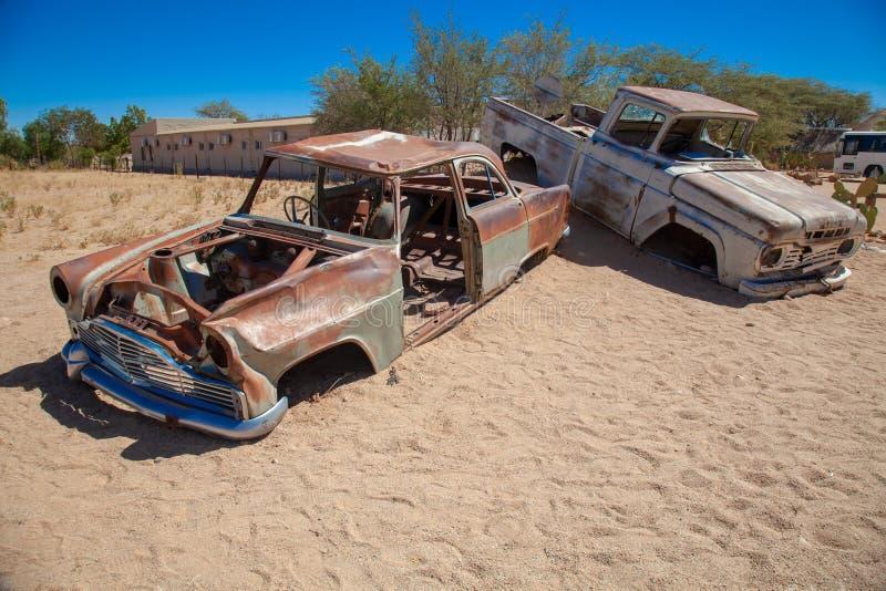 Parques nacionales de la ciudad del solitario de Namibia entre el desierto y la sabana fotos de archivo