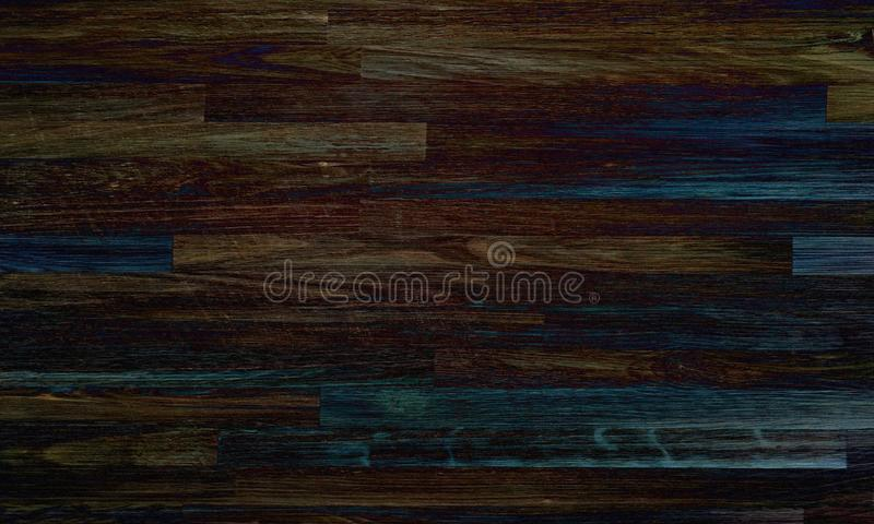 Parquet black wood texture, dark wooden floor background stock image