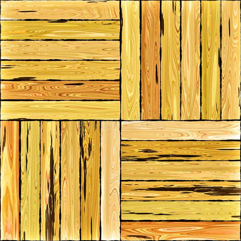 Parquet de madeira do assoalho ilustração royalty free