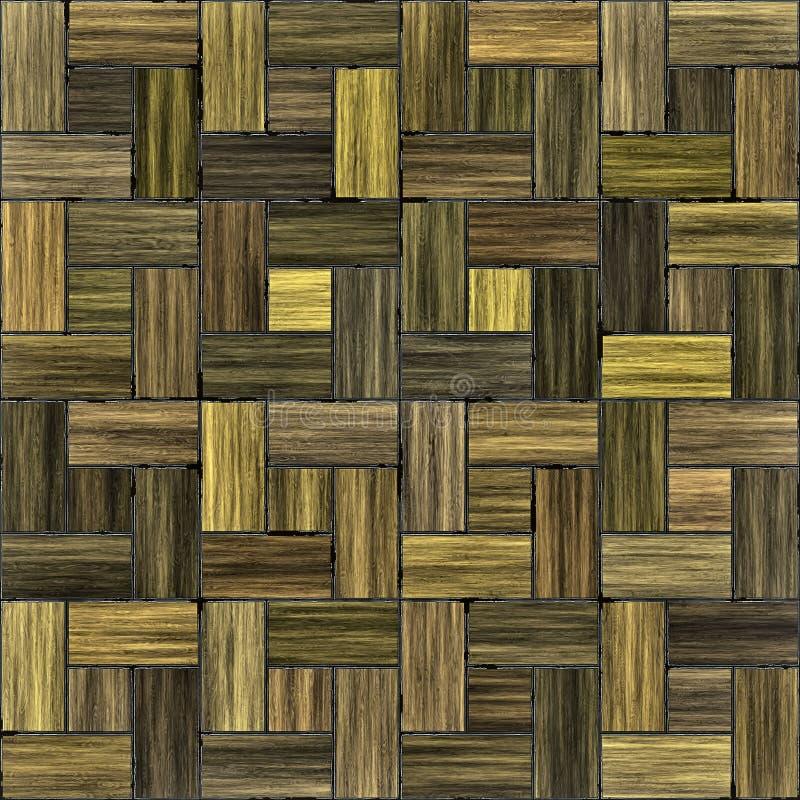 Parquet de madeira do assoalho ilustração do vetor