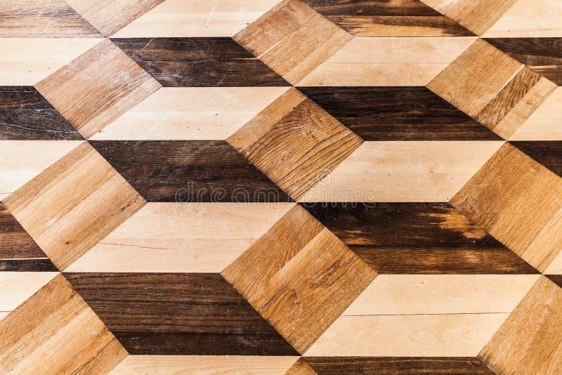 Parquet en bois classique, cubes en volume photos stock