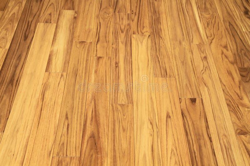 Parquet en bois de plancher de teck solide image stock