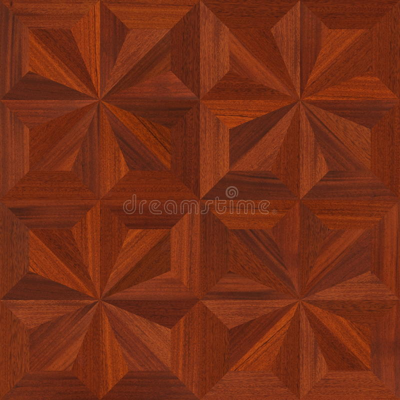 Mahogany Parquet flooring design seamless texture royalty free stock photography