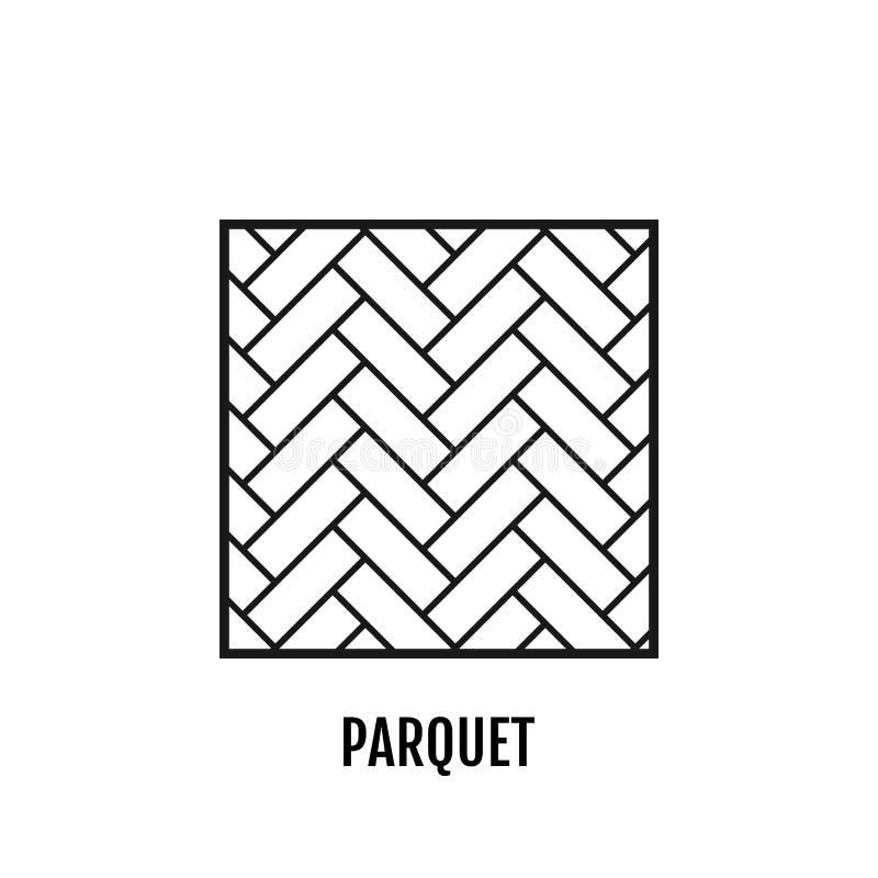 parquet flooring Objeto liso do ícone Vetor ilustração stock
