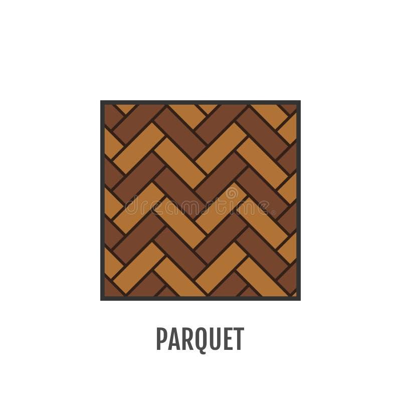 parquet flooring Objeto liso do ícone Vetor ilustração royalty free