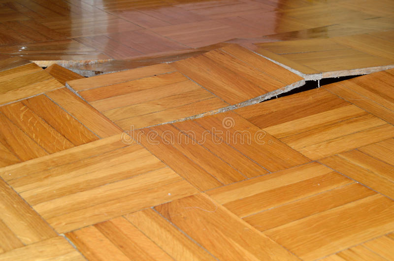 Parquet Lifted Up royalty free stock image