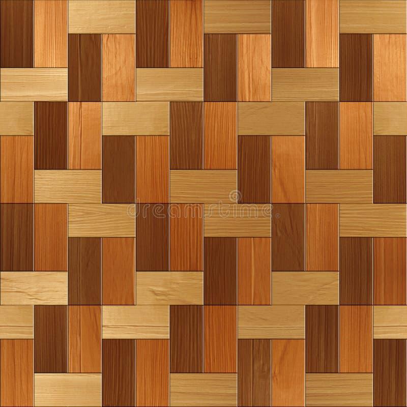 Parquet rettangolare di legno impilato per fondo senza cuciture fotografia stock