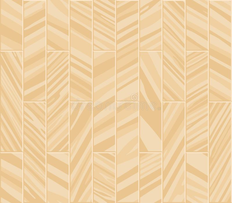 Parquet seamless texture. A floor made of wooden planks, imitation masonry of the laminate. royalty free illustration