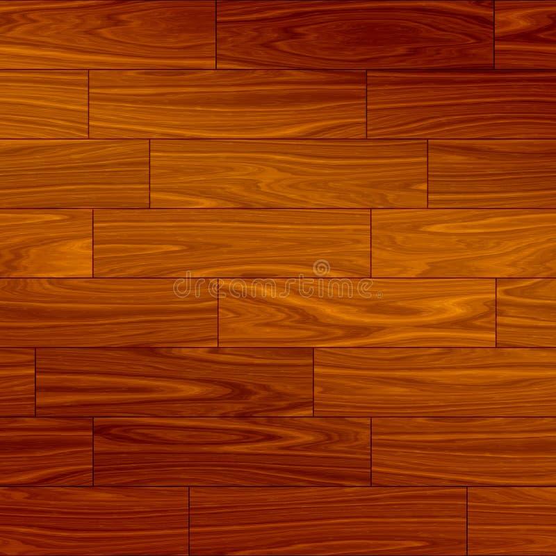 Parquet sem emenda de madeira ilustração royalty free