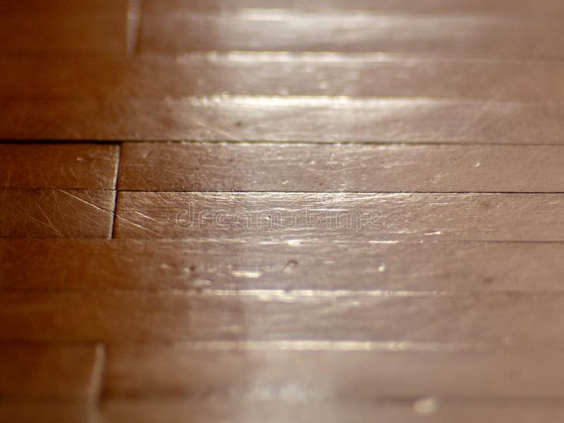 Parquet wood flooring - texture - extreme closeup shot royalty free stock image