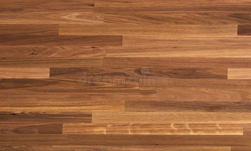 Parquet wood texture, dark wooden floor background stock images