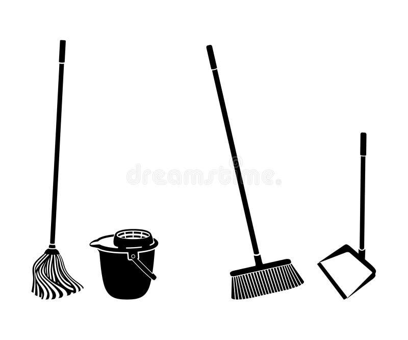 Parquetez le nettoyage illustration libre de droits