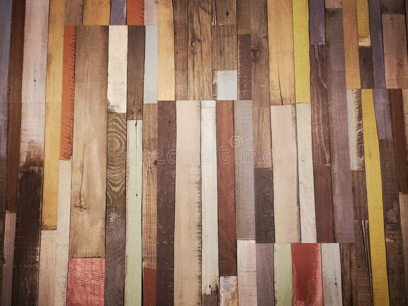 Parquetry floor - wood plank colored background stock image