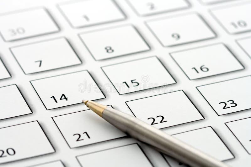Parquez sur le calendrier 1 photos stock