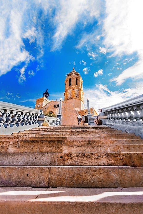 Parrò quia DE Sant Bartomeu i Santa Tecla Sitges Spain stock foto