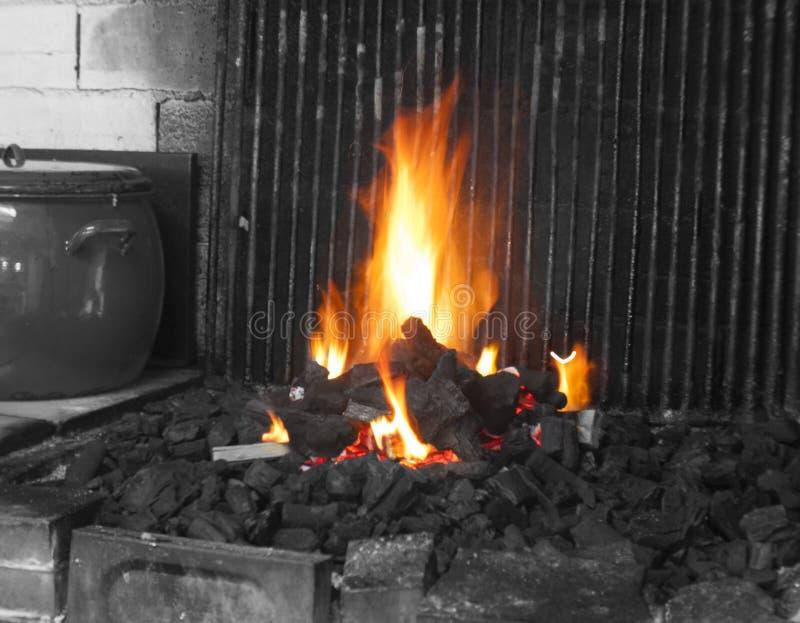 Parrila fuego гриля огня стоковая фотография