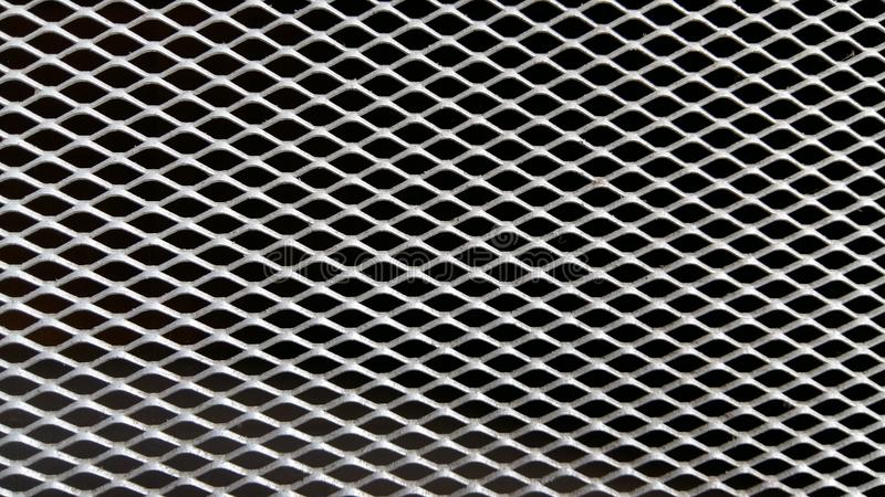 Parrilla de aluminio, modelo del diamante fotos de archivo