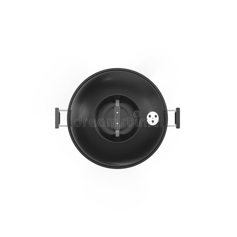 Parrilla de la barbacoa aislada en blanco Visión superior ilustración 3D stock de ilustración