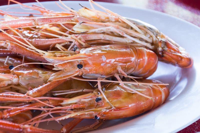 Parrilla del camarón imágenes de archivo libres de regalías