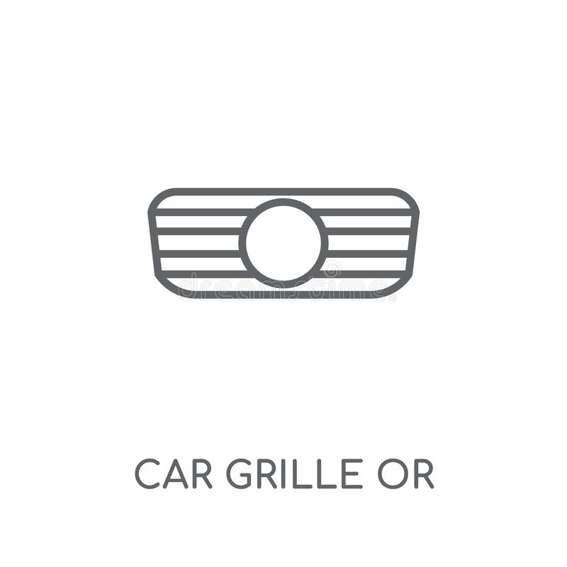 parrilla del coche o icono linear de la parrilla de radiador Coche moderno GR del esquema libre illustration
