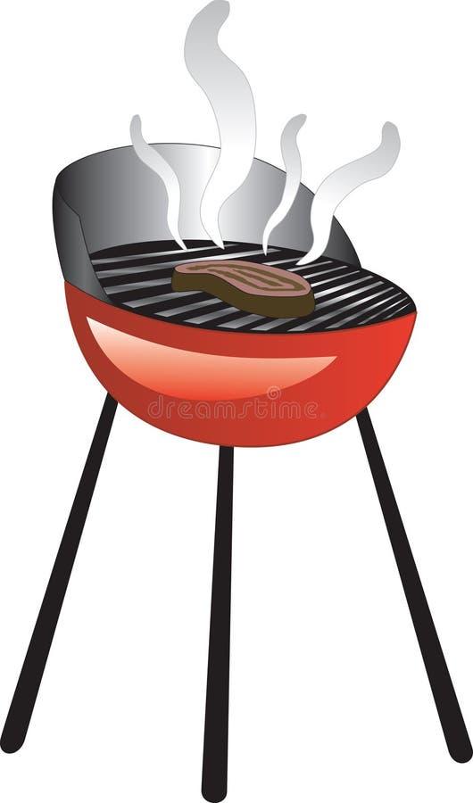 Parrilla del humo de la barbacoa stock de ilustración