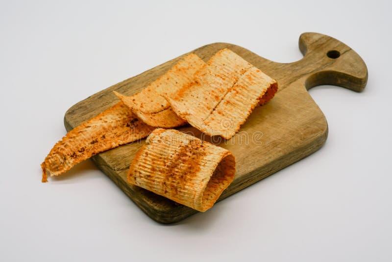 Parrilla secada y calamar machacado con gusto dulce del chile en pocilga tailandesa imagen de archivo