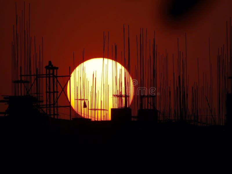 Parrillas de la puesta del sol imagen de archivo