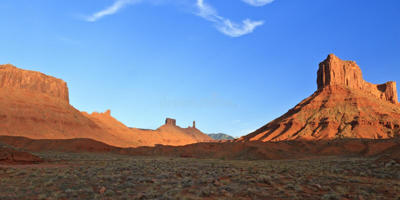 Parriott Mesa和城堡谷 免版税库存图片