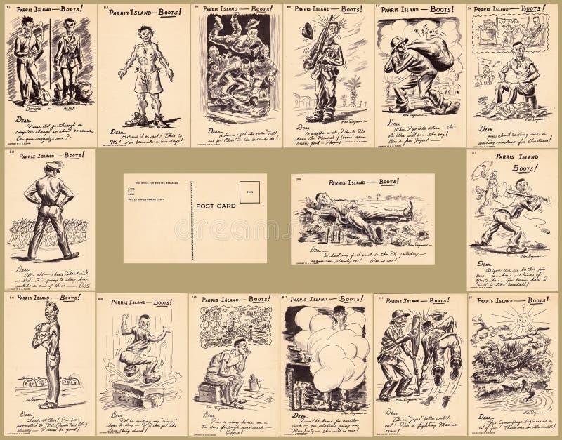 Parris wyspy Boot Camp pocztówki kolekcje obrazy royalty free