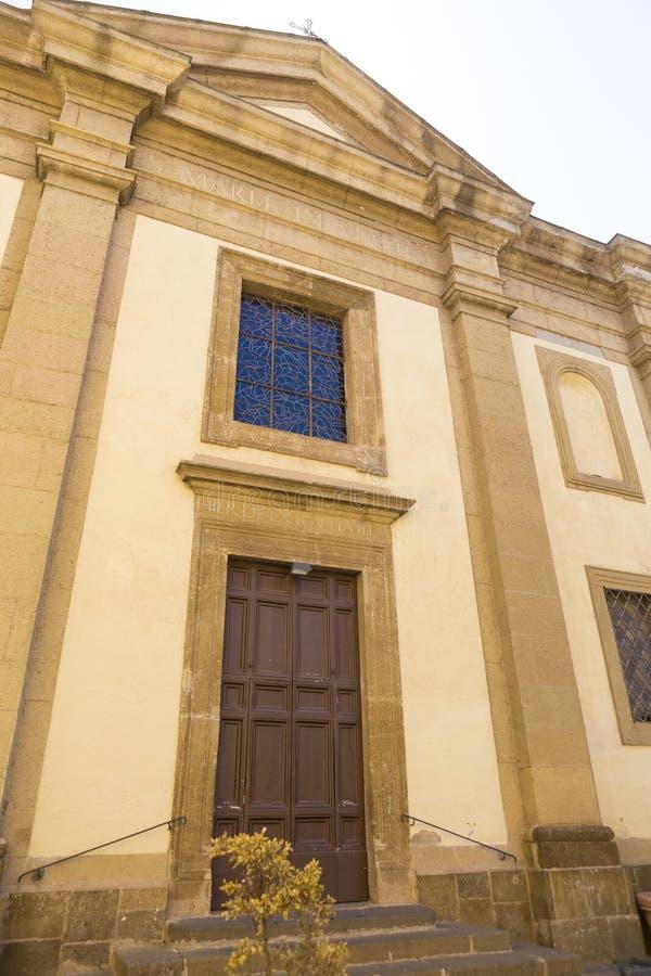 Parrocchia二圣玛丽亚在Vivario教会里 免版税库存图片