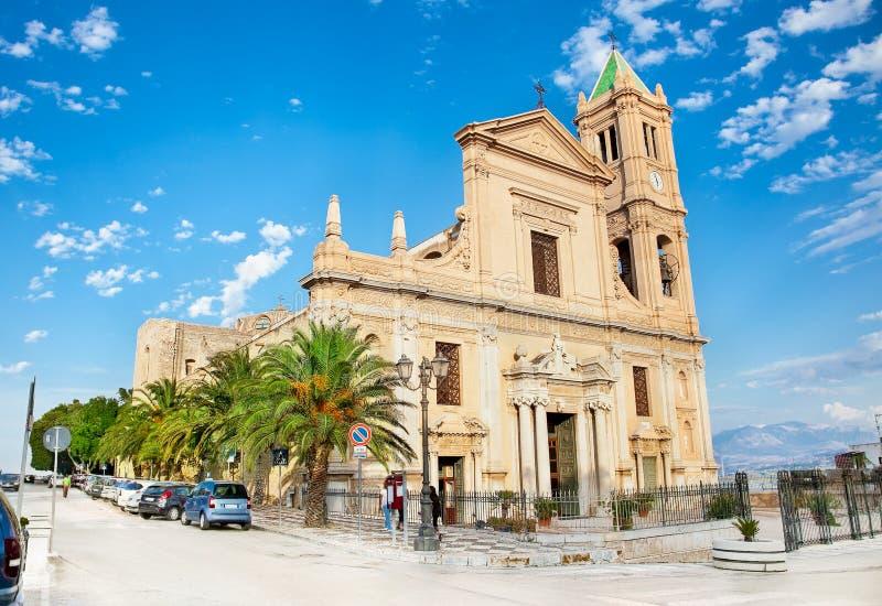 Parrocchia S Церковь Бари Di Nicola в конечных станциях Imerese, Сицилии стоковая фотография rf