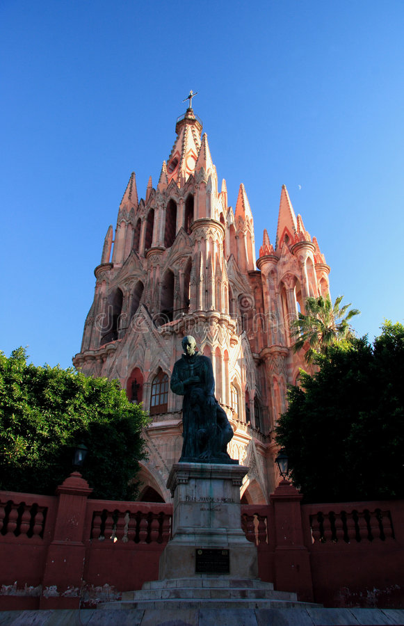 The Parroquia church, San Miguel de Allende, Guanajuato, Mexico. San Miguel de Allende, Guanajuato, Mexico Founded in 1542 by Fray Juan de San Miguel, a stock photography