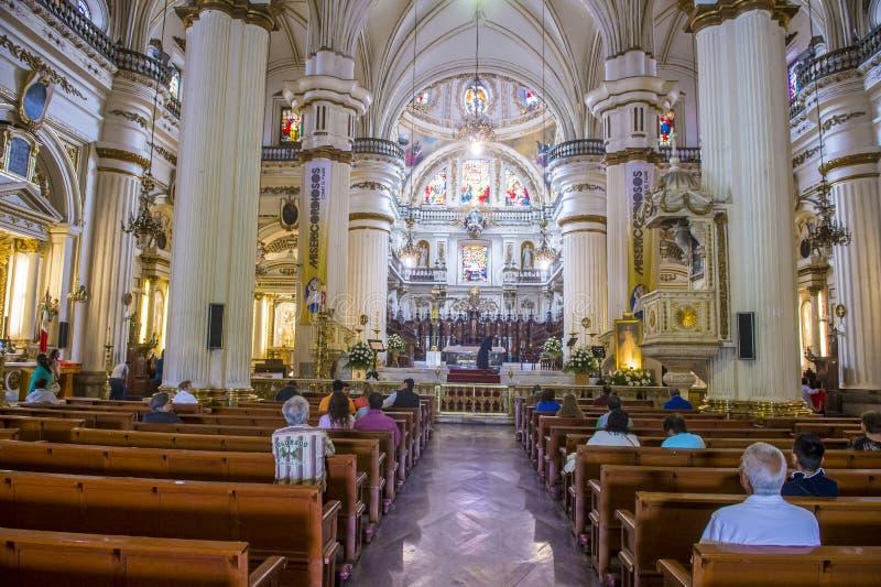 Parroquia De Nuestra Senora Del Rosario kyrka i Guadalajara royaltyfri fotografi