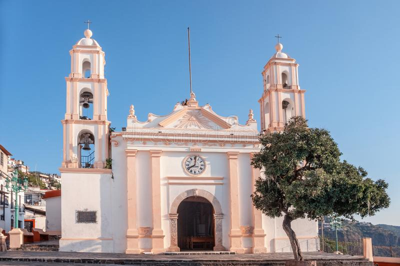 Parroquia de Nuestra Senora de Guadalupe, Taxco, Герреро, Мексика стоковые изображения