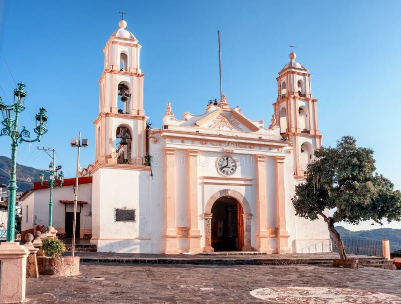 Parroquia de Nuestra Senora de Guadalupe, Taxco, Guerrero, Мексика стоковая фотография