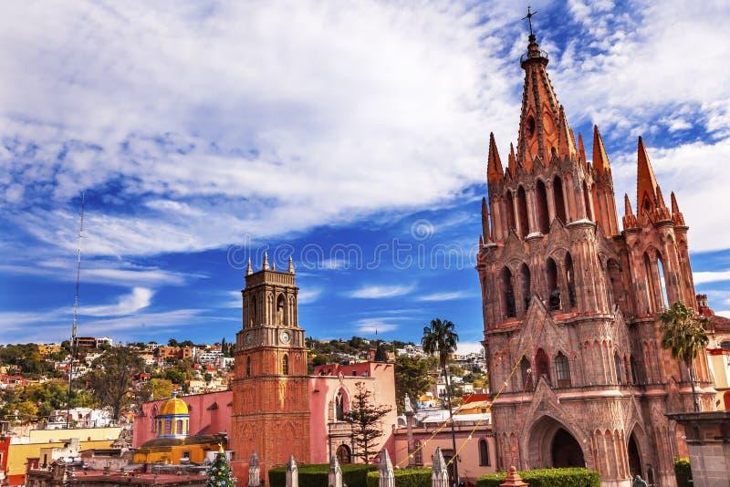 Parroquia Rafael Churches San Miguel de Allende México fotos de archivo