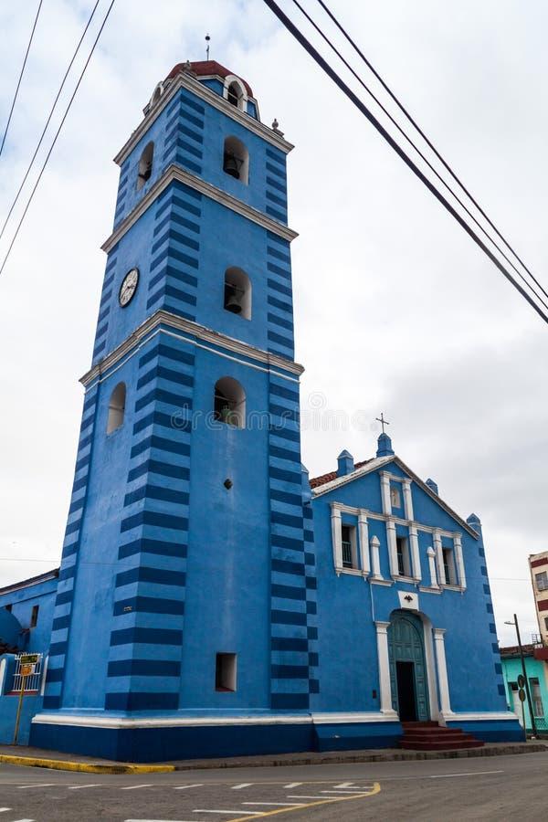 The Parroquial Mayor church in Sancti Spiritus, Cuba. Cuba`s oldest churc. H royalty free stock photos