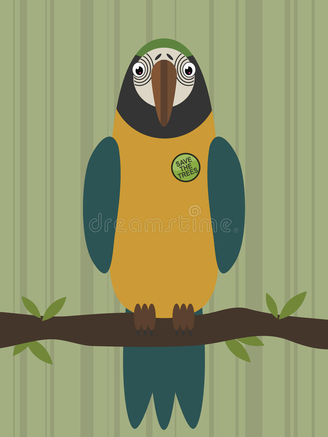 Parrot On A Branch Royalty Free Stock Photo