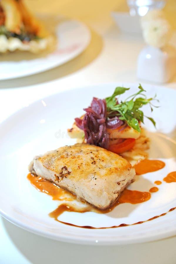 Parrot Fish Steak. In studio royalty free stock photo