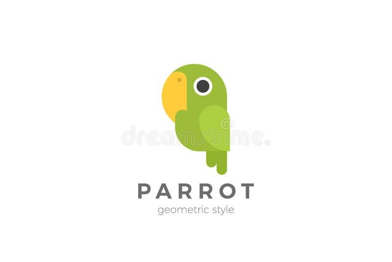 Parrot Home pets Logo abstrakcyjny wektor projektu Szablon płaski ilustracja wektor