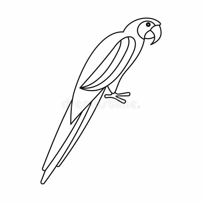 download parrot icon outline style stock vector image of fauna 81456884