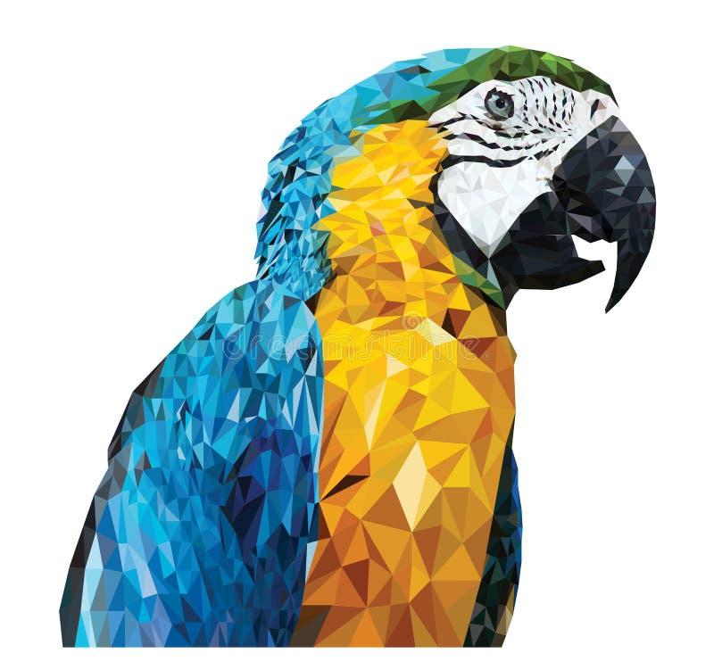 Parrot_Low poly design. Parrot Low poly design 3D royalty free illustration