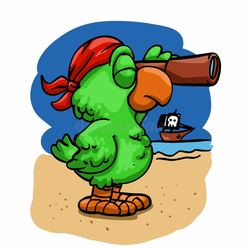 Parrot Pirate Stock Illustrations 2 444 Parrot Pirate