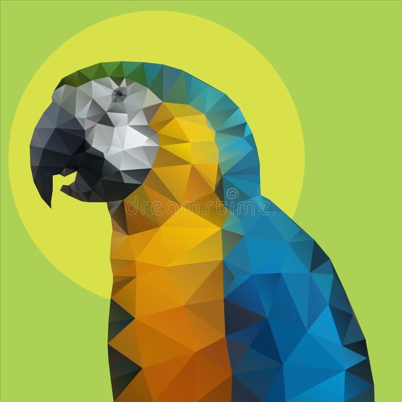 Parrot polygon Vector stock illustration