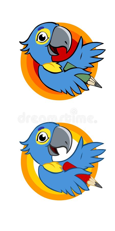 Parrot Toon royalty free stock image