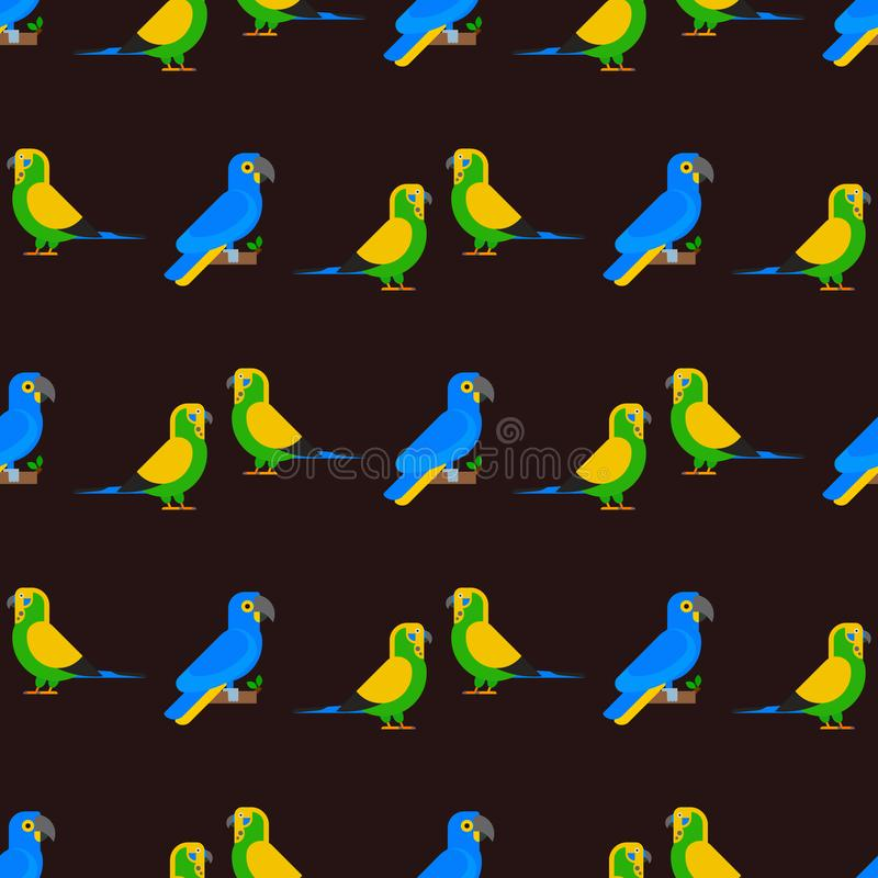 Parrots образования длиннохвостых попугаев животной природы картины птиц иллюстрация вектора любимчика безшовного тропического кр иллюстрация вектора