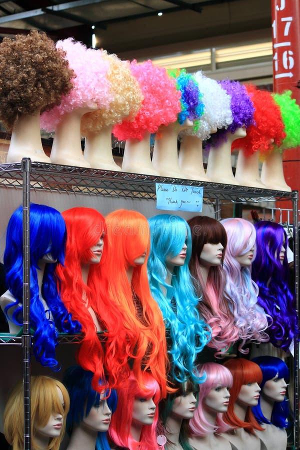Parrucche funky al mercato Melbourne di Victoria fotografie stock libere da diritti