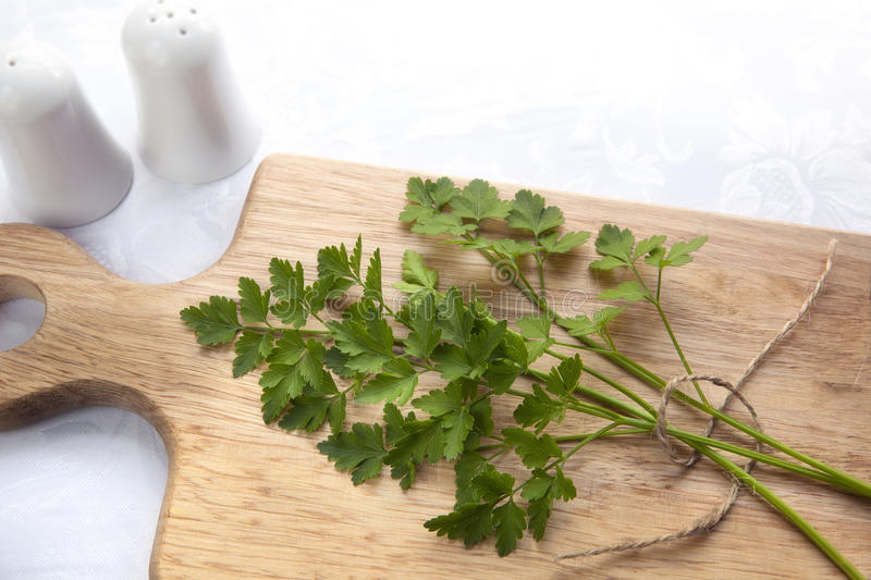 Download Parsley on Board stock photo. Image of wooden, continental - 26804782