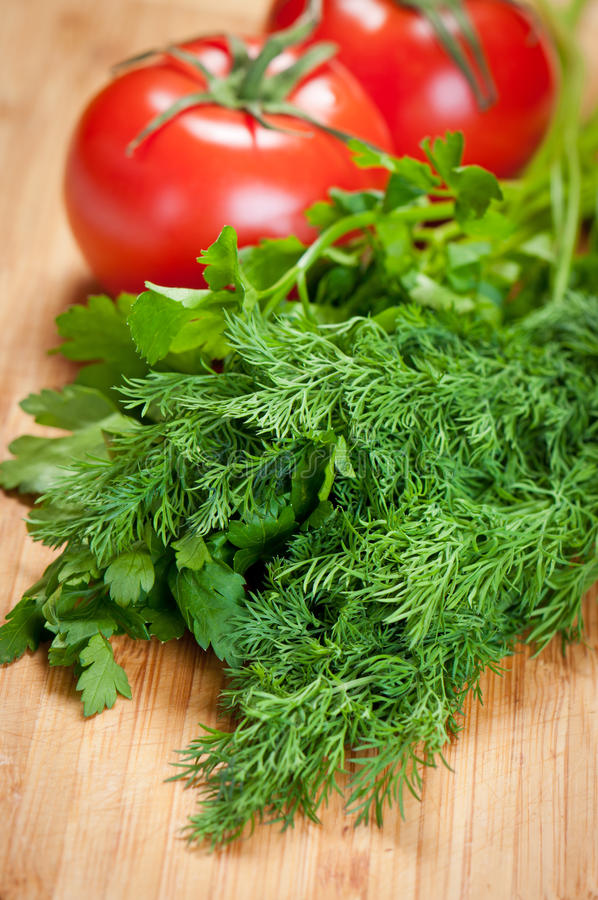 Download Parsley, Dill And Tomatoes Royalty Free Stock Photo - Image: 23503525