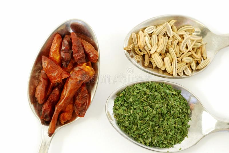 Parsley, paprika and fennel seeds